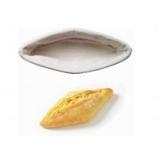 """Корзина для расстойки хлеба из ротанга в форме """"лодочки"""", (29*12*8) с чехлом из льна"""